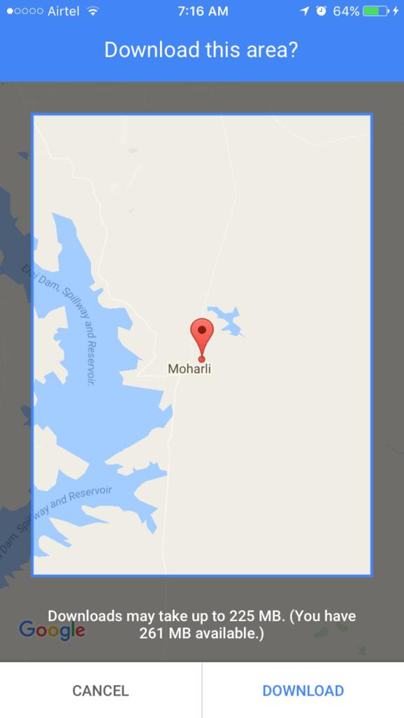 Offline Google Maps for Wildlifers
