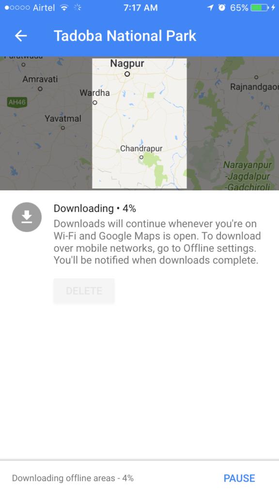 offline google map for wildlifers