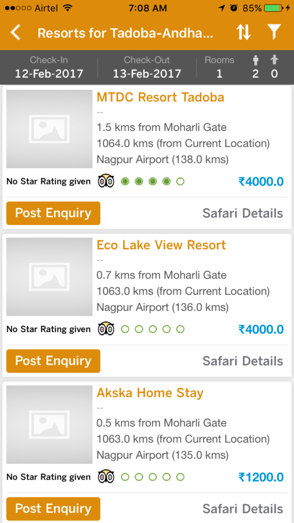 list of tadoba resorts