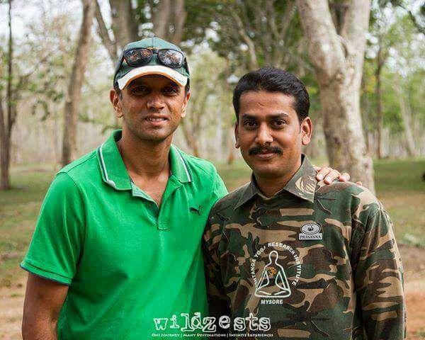 prasanna gowda with rahul dravid wildtrails india